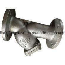 150lb de acero inoxidable y-filtro de extremo de brida