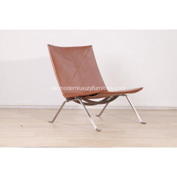 Cognac Läder Poul Kjaerholm PK22 Easy Chair Replica