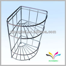 User-friendly design three level retail metal engine oil display rack