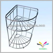 Design amigável de três níveis de exibição de óleo de motor de metal de varejo