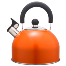 1,5 l Edelstahl Farbe Malerei Teekessel orange Farbe