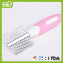 Double-Side Pink Comb Pet Grooming Product