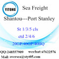 Shantou Port Sea Freight Shipping ke Port Stanley
