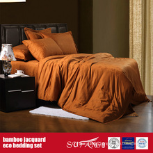 Bamboo Fiber Jacquard Bed Linen Set Luxury Hotel Sheets