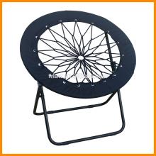 Black mesh round folding bungee chair