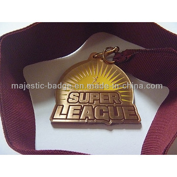 Customized Super League Medallion with Ribbon