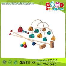 2015 nuevo juego de madera del croquet del juguete, juguetes al aire libre del croquet del juego, juego educativo de los niños Croquet