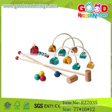 2015 New Wooden Toy Croquet Set,Outdoor Game Croquet Toys,Educational Children Croquet Game