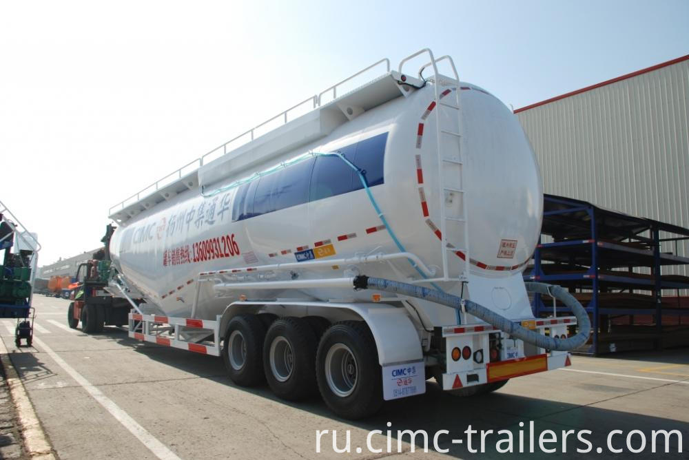 Lr Tri Axle Cement Bulk Tank Semi Trailer