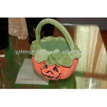 Lovely Halloween Gift Pumpkin Plush Bucket for Kids