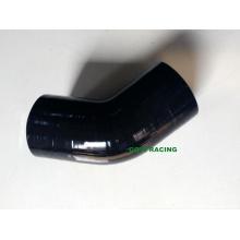 Tuyau en caoutchouc en silicone à manches courtes à angle droit de 45 degrés de 51 mm et 2 po