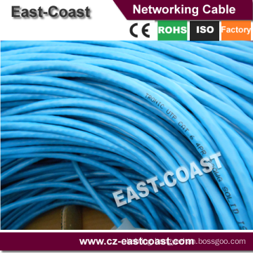 UTP solid cable 23awg Cat6 Lan networking cable 90M Fluke testing EN50173 PL Class E