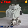 Electric 3 way thread 1/2 inch stainless steel ball valve