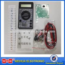 Multímetro digital con precio barato Pocket-size de venta caliente Kit didáctico DT830B para estudiantes