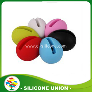 New egg shape silicone mobile phone music speaker acceries