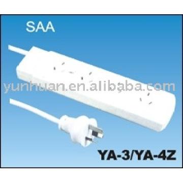 Cable de extensión resistente ordinario para Australia Aus SAA