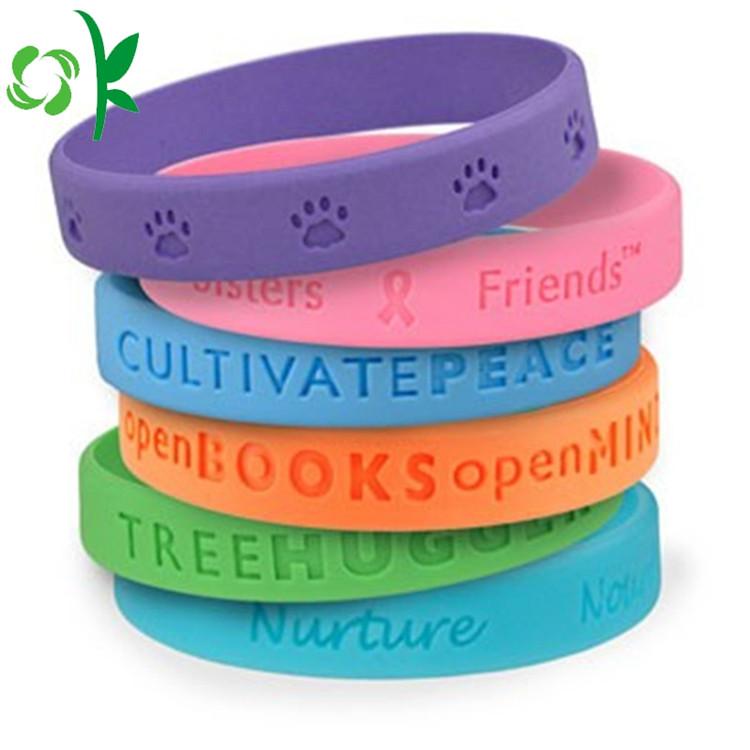 Engraved silicone bracelet