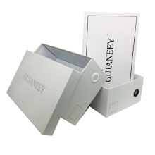 Custom Printed With Logo Corrugated Paper Folding Packaging Luxury  Drop Front  Shoe Box