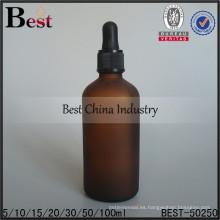 Botellas de aceite con cuentagotas de plástico de 30/50/100 ml; botellas de aceite esencial de color ámbar; botella de vidrio de aceite rellenable en Dubai