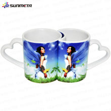 sublimation couple lovers mugs love handle lovers mug