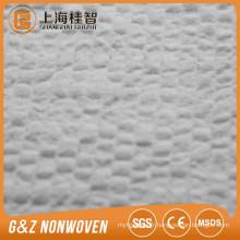 """""""-"""" type non tissé 100% polyester gaufré spunlace non-tissé non-tissé avec un bon absorbant pour les lingettes humides"""