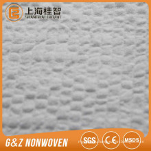 """-"" type non woven raw material 100% polyester embossed spunlace nonwoven nonwoven fabric with good absorbent for wet wipes"