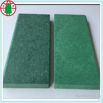 Chinese good quality Waterproof green colour raw MDF