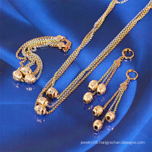 Xuping Newest Multicolor Ball Chains Jewelry Set (61029)