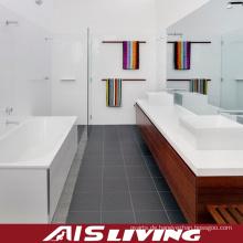 Melamin-Badezimmer-Kabinett-Eitelkeit mit Keramik-Becken (AIS-B008)