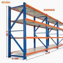 Estante de carga pesada de almacenamiento ampliamente utilizado recubierto de polvo