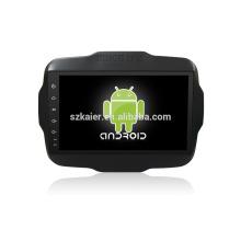 Quatro núcleos! Android 6.0 carro dvd para JEEP Renegade com 9 polegadas touch screen capacitiva / GPS / Link espelho / DVR / TPMS / OBD2 / WIFI / 4G