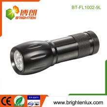 Vente en vrac en usine 3 * AAA Batterie à fonctionnement en aluminium Matériau Urgence Usagé Portable à bon marché 9 led lampe de poche