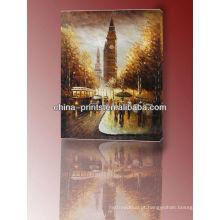 Pintura a óleo famosa famosa da lona de Londres Big Ben da alta qualidade