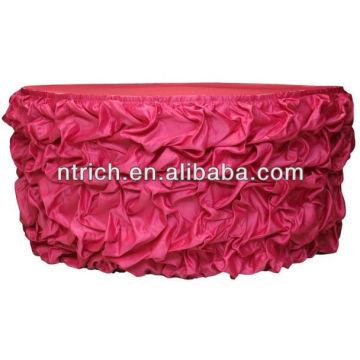 Saia de cetim com babados tabela encantado colorida para saias de mesa decorativo casamento