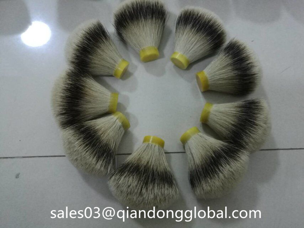 fan shape badger hair knot