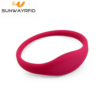 RFID Silicone Wristbands Gelang gelung tertutup
