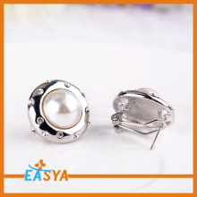 Cheap Wholesale Jewelry Crystal Silver Pearl Earring