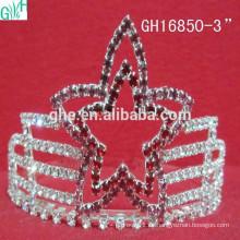 Hermosa corona de belleza de cinco estrellas