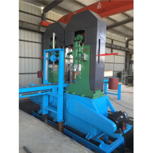 Twin vertical band saw for wood cutting