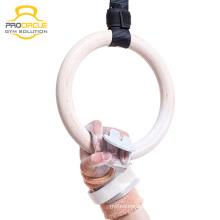 Пользовательские Вес поднимаясь тренажерный зал кольца/гимнастические кольца с ремешком