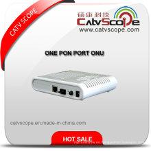 Gepon Terminal de fibra óptica de red Unite One Pon Port ONU