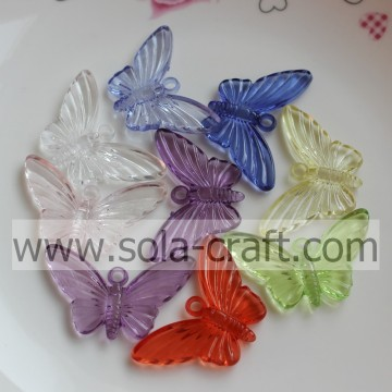 Beaucoup d'acrylique papillon Transparent Perles plastique Stripe Bowtie parage