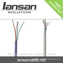 Lansan 305m / caixa 1000ft Ce / fluke Passe Cabo de rede Utp / ftp / sftp Melhor preço Utp Cat5e Lan Cable
