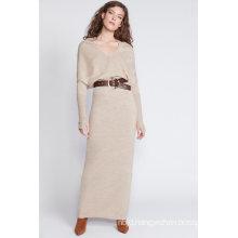 Mock Neck Long Sweater Dress