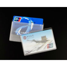 Special Plastic Clear Avoid/Anti Your Card Being Degaussed Card Sleeve, ID Card Sleeve, Credit/Bank/ATM Card Sleeve/Cover/ Holder