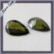 Peridot Gemstone Pedra Zircônia Cúbica Jóias
