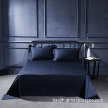 Royal Blue 3 PCS 100% Egyptian Cotton Solid Flat Sheet Set
