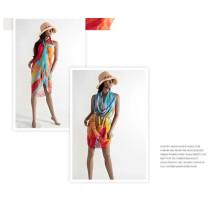 Reine Farbe Garn Frauen 100% Seide Schals Mode Strand Handtuch Seide Schal Schal Gaze Kopftuch