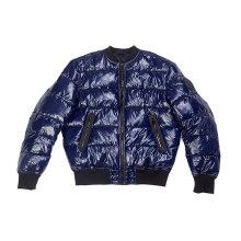 блестящая нейлоновая тканевая куртка