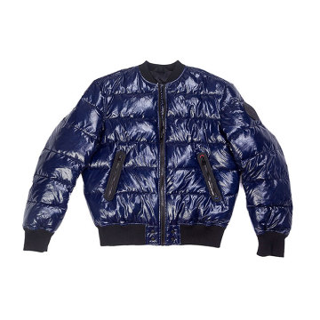 veste de rembourrage en nylon brillant